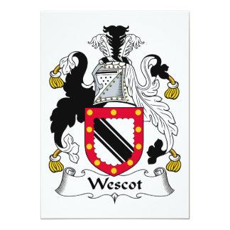 Escudo de la familia de Wescot Comunicados Personales