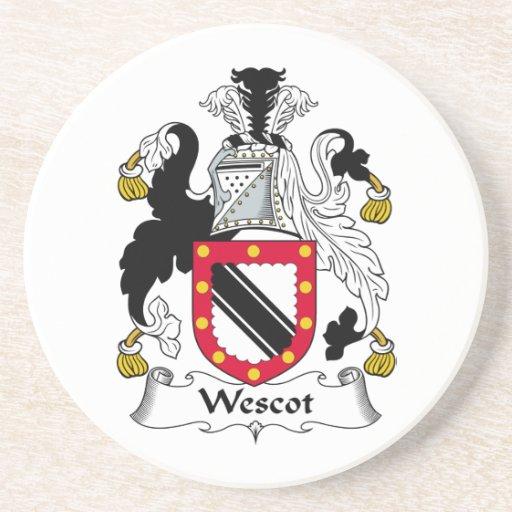Escudo de la familia de Wescot Posavasos Manualidades