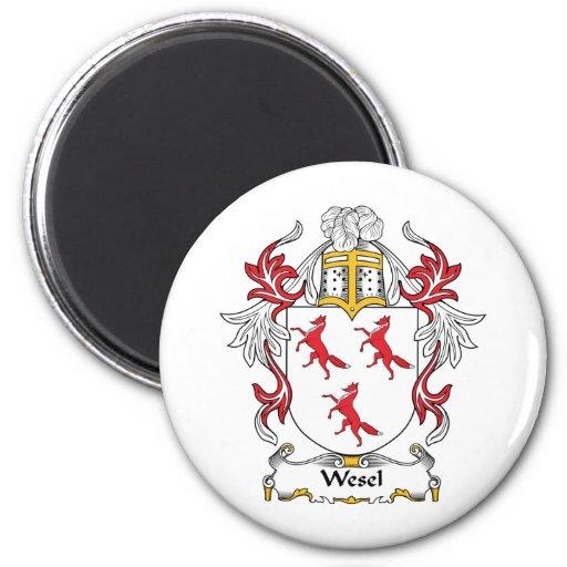 Escudo de la familia de Wesel Imán De Frigorifico