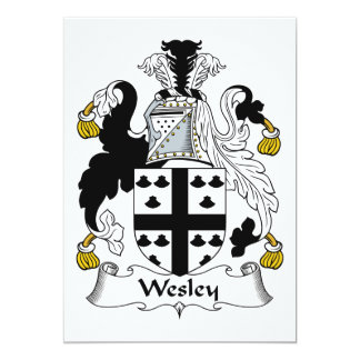 Escudo de la familia de Wesley Invitación