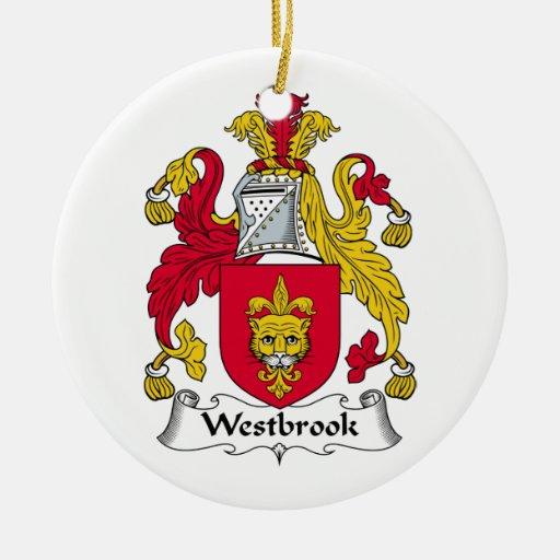 Escudo de la familia de Westbrook Adorno Redondo De Cerámica