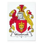 Escudo de la familia de Westbrook Invitacion Personalizada