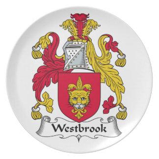 Escudo de la familia de Westbrook Platos Para Fiestas