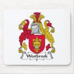 Escudo de la familia de Westbrook Tapetes De Ratones