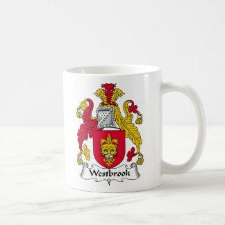 Escudo de la familia de Westbrook Tazas De Café