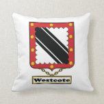 Escudo de la familia de Westcote Cojin
