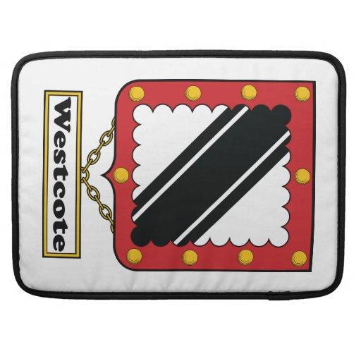 Escudo de la familia de Westcote Funda Para Macbooks