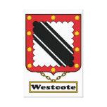 Escudo de la familia de Westcote Impresiones De Lienzo