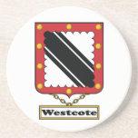 Escudo de la familia de Westcote Posavasos Para Bebidas