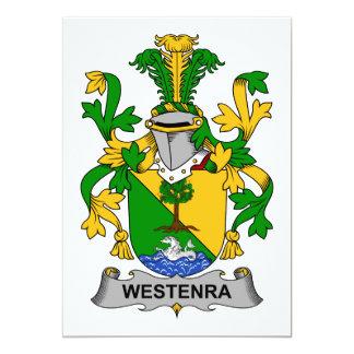 """Escudo de la familia de Westenra Invitación 5"""" X 7"""""""