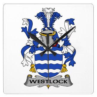 Escudo de la familia de Westlock Reloj De Pared