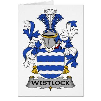 Escudo de la familia de Westlock Felicitación