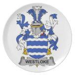 Escudo de la familia de Westloke Plato Para Fiesta