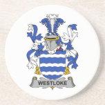 Escudo de la familia de Westloke Posavaso Para Bebida