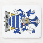 Escudo de la familia de Westloke Alfombrillas De Raton
