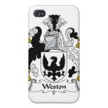 Escudo de la familia de Weston iPhone 4/4S Carcasas