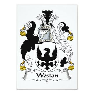 Escudo de la familia de Weston Invitación