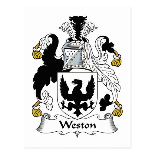 Escudo de la familia de Weston Postales