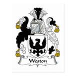 Escudo de la familia de Weston Tarjetas Postales