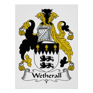 Escudo de la familia de Wetherall Poster