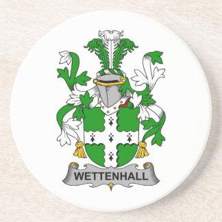 Escudo de la familia de Wettenhall Posavasos Cerveza