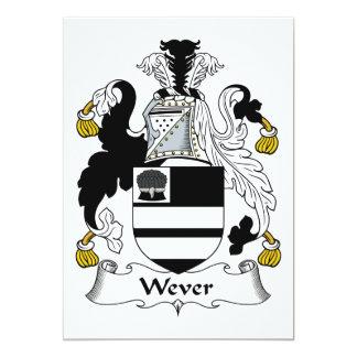 Escudo de la familia de Wever Invitación Personalizada