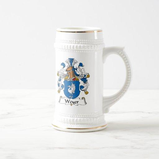 Escudo de la familia de Weyer Taza De Café