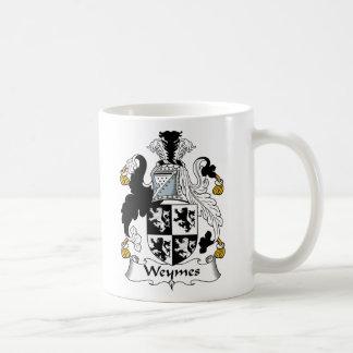 Escudo de la familia de Weymes Taza De Café