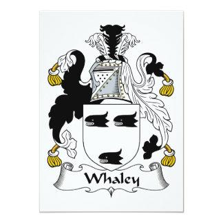 """Escudo de la familia de Whaley Invitación 5"""" X 7"""""""