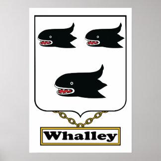 Escudo de la familia de Whalley Póster