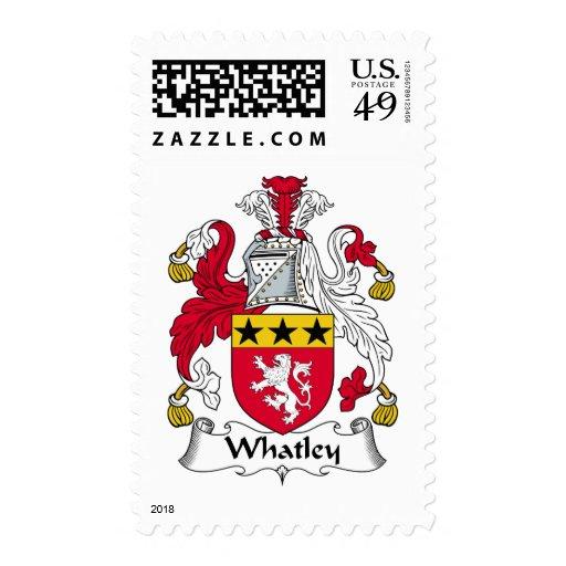 Escudo de la familia de Whatley Timbres Postales