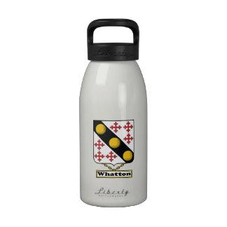 Escudo de la familia de Whatton Botella De Beber