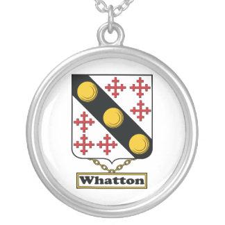 Escudo de la familia de Whatton Colgante Redondo