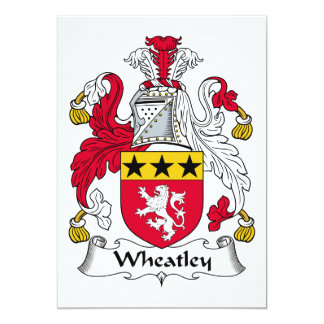 Escudo de la familia de Wheatley Invitaciones Personales