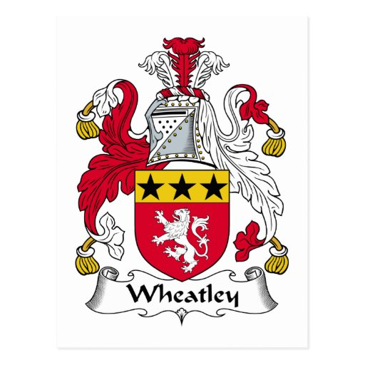 Escudo de la familia de Wheatley Postales