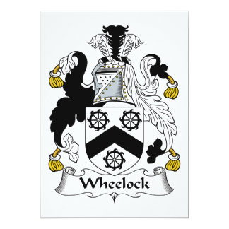 Escudo de la familia de Wheelock Invitación