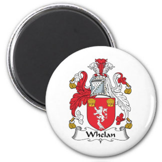 Escudo de la familia de Whelan Imán Redondo 5 Cm