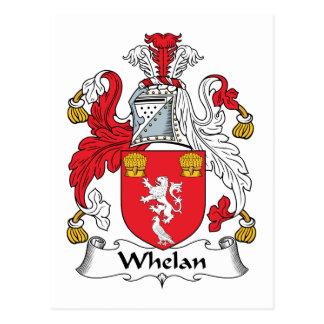 Escudo de la familia de Whelan Postal