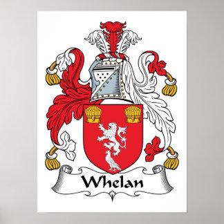 Escudo de la familia de Whelan Póster