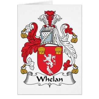 Escudo de la familia de Whelan Tarjeta De Felicitación