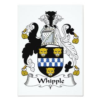 "Escudo de la familia de Whipple Invitación 5"" X 7"""