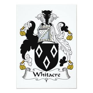 Escudo de la familia de Whitacre Invitación 12,7 X 17,8 Cm