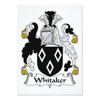 Escudo de la familia de Whitaker Comunicado