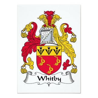 """Escudo de la familia de Whitby Invitación 5"""" X 7"""""""