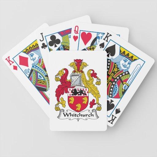 Escudo de la familia de Whitchurch Cartas De Juego