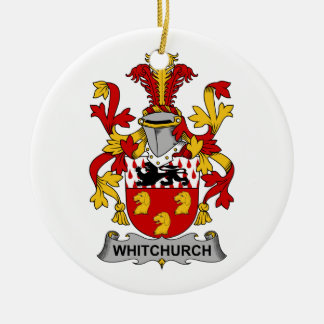 Escudo de la familia de Whitchurch Adorno Redondo De Cerámica
