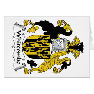 Escudo de la familia de Whitcombe Felicitacion
