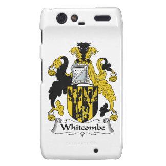 Escudo de la familia de Whitcombe Motorola Droid RAZR Funda