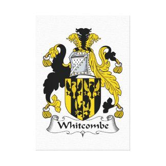 Escudo de la familia de Whitcombe Impresiones En Lona Estiradas