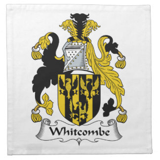 Escudo de la familia de Whitcombe Servilletas Imprimidas